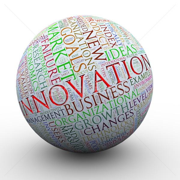 Innovation words tag ball Stock photo © ribah