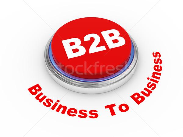 3D b2b przycisk 3d ilustracji działalności list Zdjęcia stock © ribah