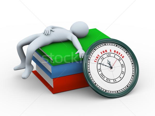 3d man sleeping - time for a break Stock photo © ribah
