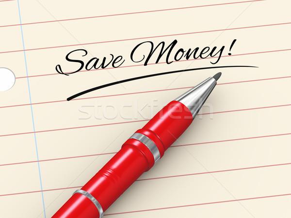3D toll papír megtakarítás 3d render írott Stock fotó © ribah