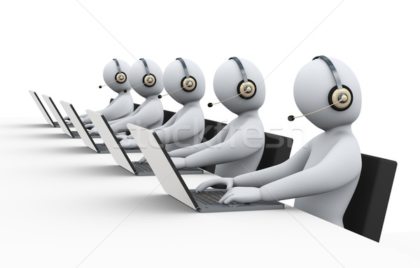 3d people at call center support Stock photo © ribah