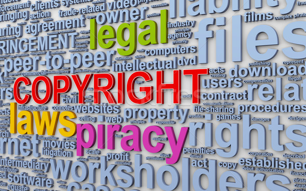 3d wordcloud words tags of copyright Stock photo © ribah