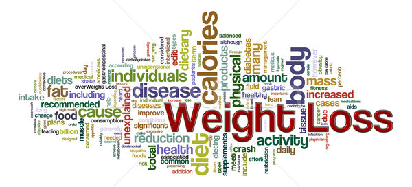 Stock photo: Weight loss word tags