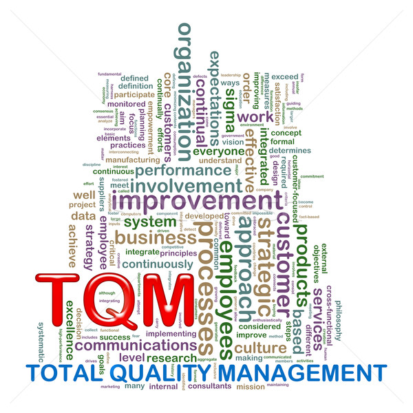 Word tags wordcloud of tqm Stock photo © ribah