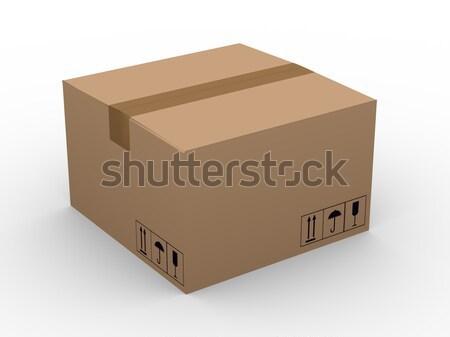 3D caja de cartón 3d blanco compras cuadro Foto stock © ribah
