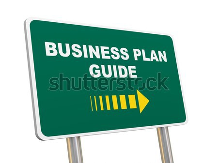 3d business plan guide road sign Stock photo © ribah