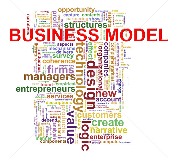 Business model word tags Stock photo © ribah
