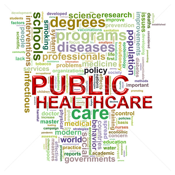 Public healthcare word tags Stock photo © ribah