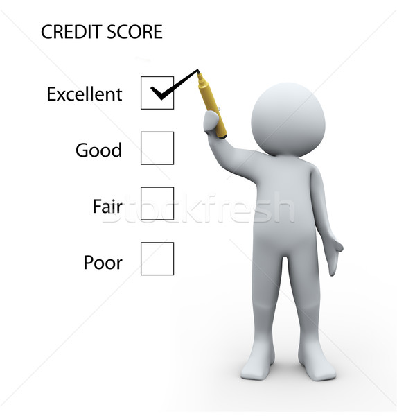 3d person and credit score  Stock photo © ribah