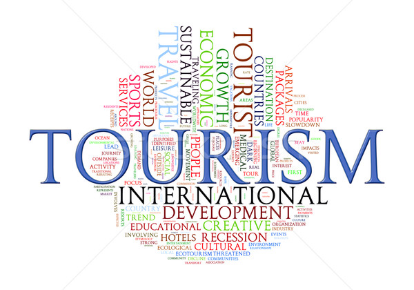 Word tags of Tourism Stock photo © ribah
