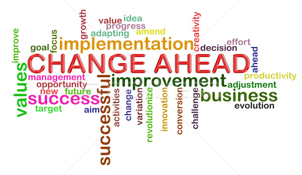 Change ahead word tags Stock photo © ribah