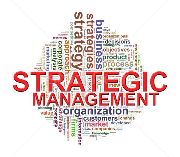 Mot stratégique gestion illustration Photo stock © ribah
