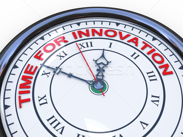 Stock photo: 3d time for innovation clock