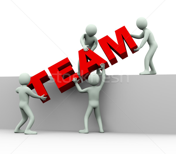 Stock photo: 3d people - concept of team