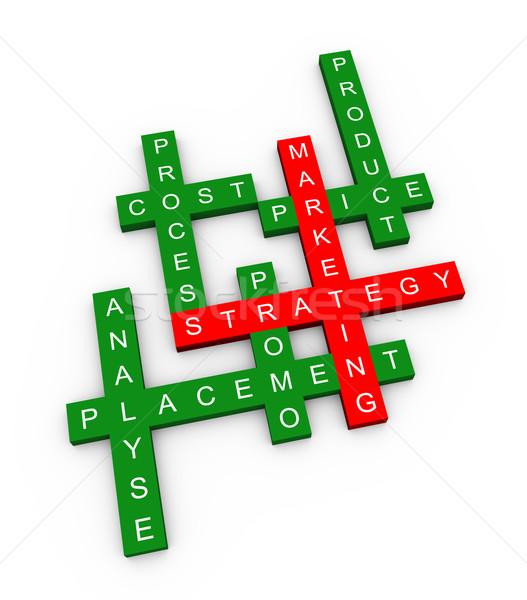 Crucigrama comercialización 3d tecnología compras Foto stock © ribah