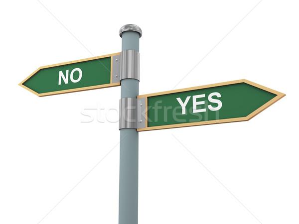 Road sign yes and no Stock photo © ribah