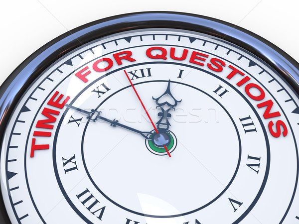 3d clock - time for questions Stock photo © ribah