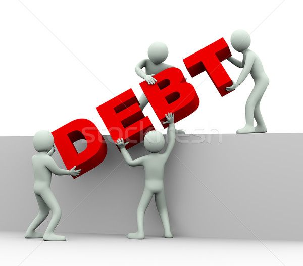 3d people - concept of debt Stock photo © ribah