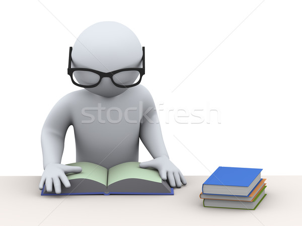 3d student studying Stock photo © ribah