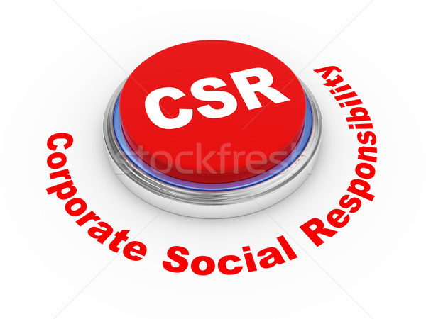 3d csr button Stock photo © ribah