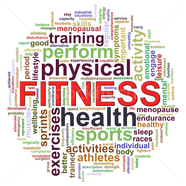 Fitness worcloud word tags Stock photo © ribah