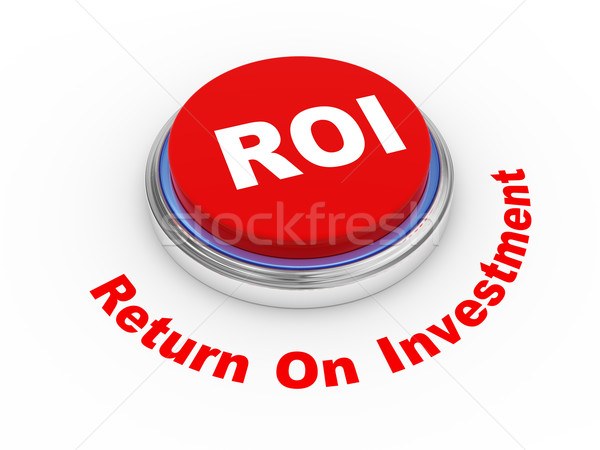 Roi bouton 3d illustration retour investissement internet Photo stock © ribah