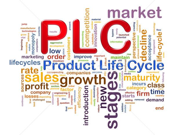 слово продукт жизни цикл иллюстрация Сток-фото © ribah
