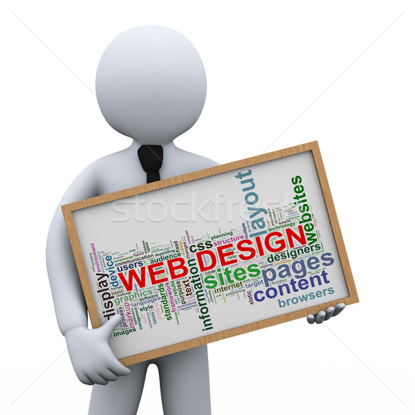 3d businessman and web design tags Stock photo © ribah