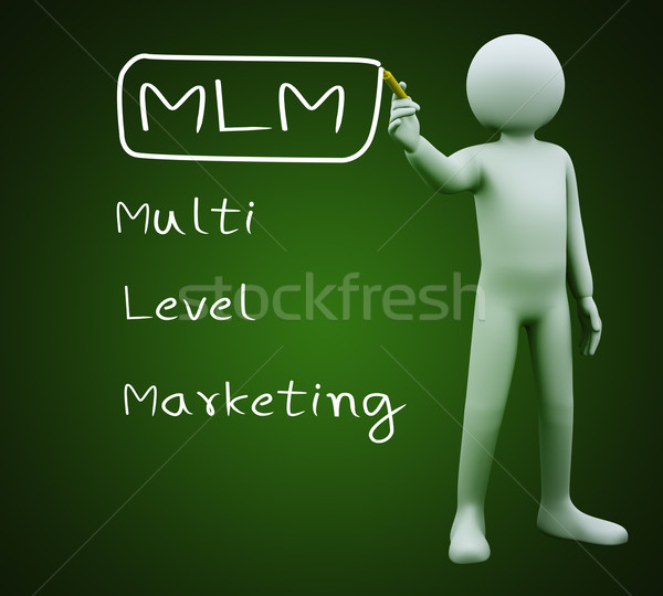 3d man writing mlm Stock photo © ribah