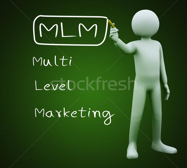 Hombre 3d escrito mlm 3d persona marcador Foto stock © ribah
