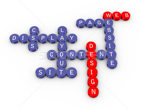 Web design cruciverba illustrazione 3d business internet puzzle Foto d'archivio © ribah