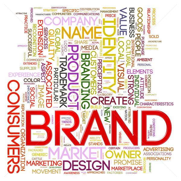 Brand wordcloud Stock photo © ribah