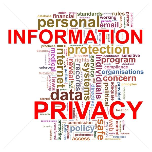 Palabra etiquetas intimidad ilustración información Foto stock © ribah
