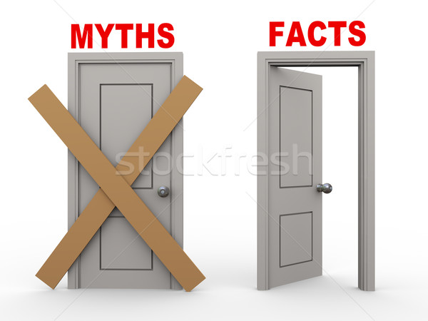 3d myth and fact doors Stock photo © ribah