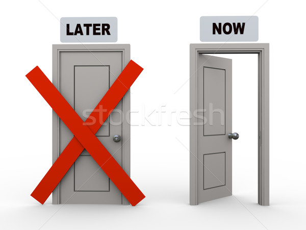 3d later and now doors Stock photo © ribah