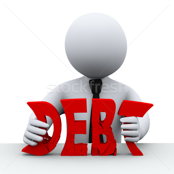 3d person debt free concept Stock photo © ribah