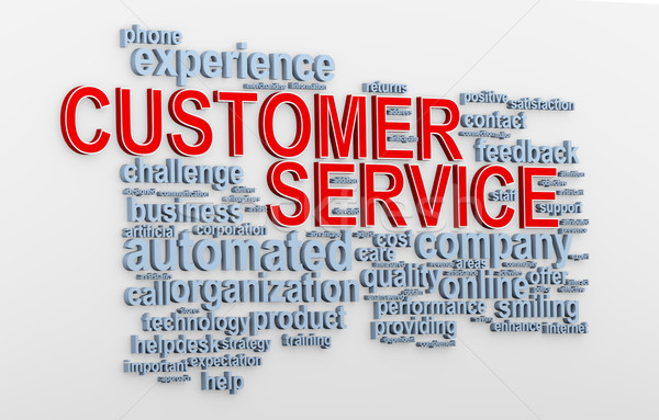 Stock photo: 3d Customer service wordcloud