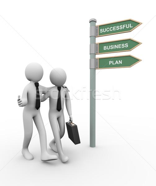 3d business partner successful plan Stock photo © ribah