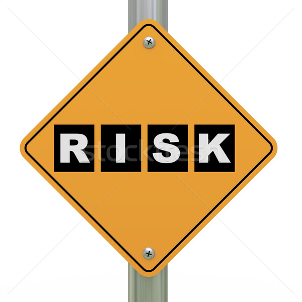 3d road sign risk Stock photo © ribah