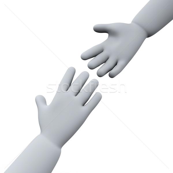 3d helping hands Stock photo © ribah