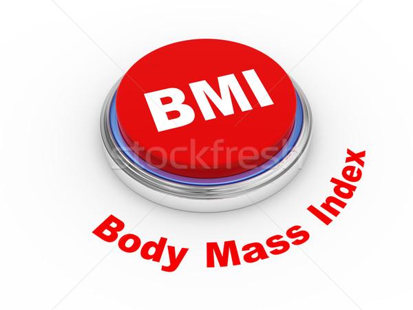 3d BMI Button Stock photo © ribah