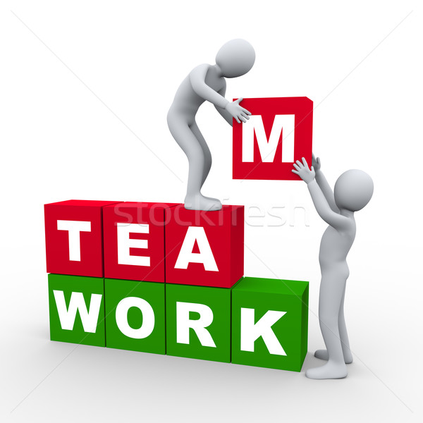 3d people teamwork concept Stock photo © ribah
