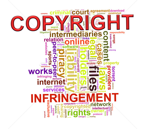 Szófelhő szavak címkék szerzői jog illusztráció szó Stock fotó © ribah
