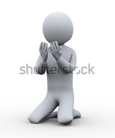 3d muslim praying hand Stock photo © ribah
