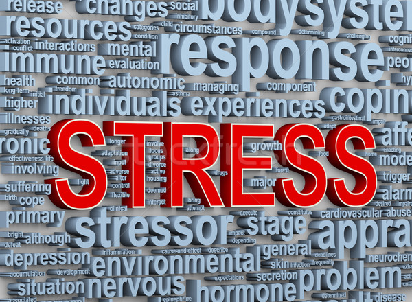 3d word tags of stress Stock photo © ribah