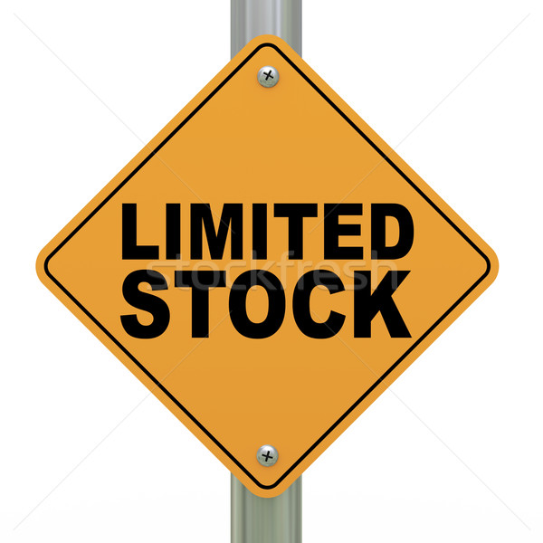 3d road sign limited stock Stock photo © ribah