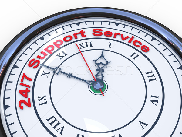 Stock photo: 3d 24/7 support clock