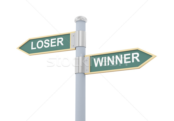 3d loser winner road sign Stock photo © ribah