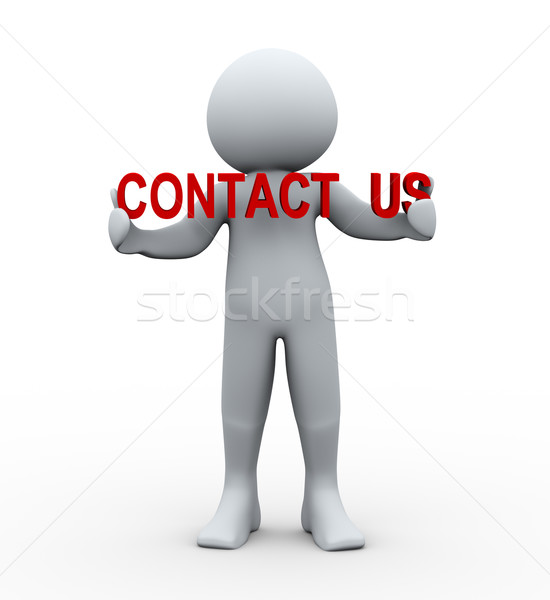 3d person and contact us Stock photo © ribah
