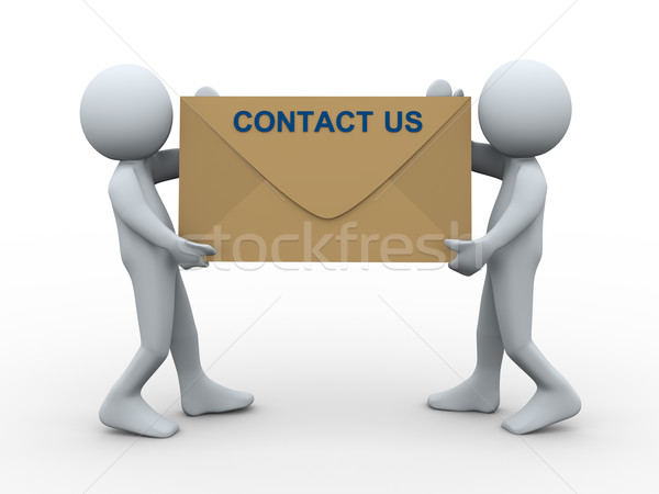 3d people contact us envelope Stock photo © ribah